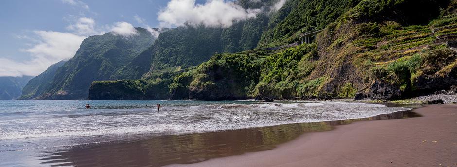 The beaches of Madeira - Black Sandy Beach